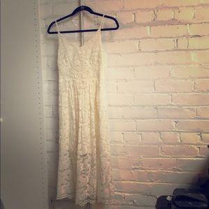 H&M Cream Lace Illusion Dress